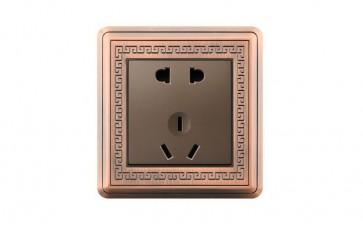 R12中式复古锌合金开关插座(酒店、家用)-- 浙江恒邦电器有限公司