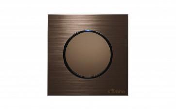 Y11圆形铝拉丝面板开关插座(酒店、家用)点按式 科技感-- 浙江恒邦电器有限公司