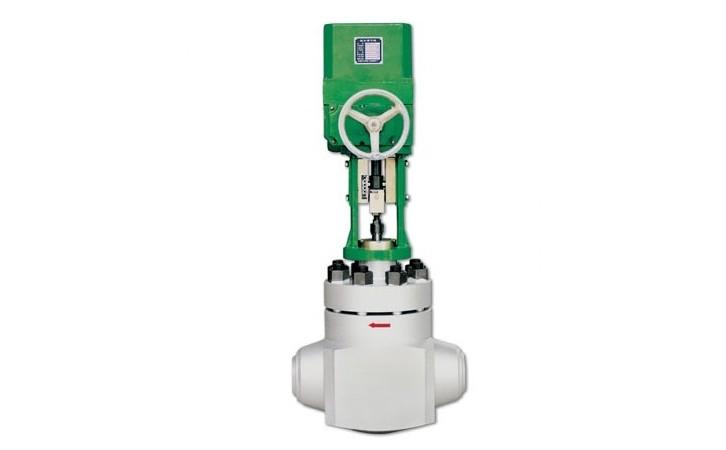 进口衬氟焊接单座耐酸碱电动调节阀
